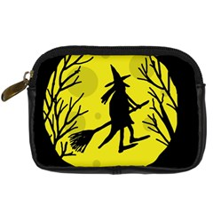 Halloween witch - yellow moon Digital Camera Cases