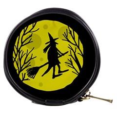 Halloween witch - yellow moon Mini Makeup Bags