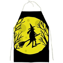 Halloween witch - yellow moon Full Print Aprons