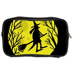 Halloween witch - yellow moon Toiletries Bags