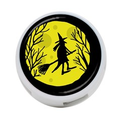 Halloween witch - yellow moon 4-Port USB Hub (Two Sides)