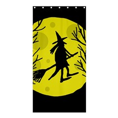 Halloween witch - yellow moon Shower Curtain 36  x 72  (Stall)