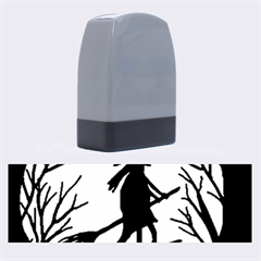 Halloween Witch   Yellow Moon Name Stamps