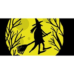 Halloween witch - yellow moon YOU ARE INVITED 3D Greeting Card (8x4)