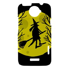 Halloween witch - yellow moon HTC One X Hardshell Case