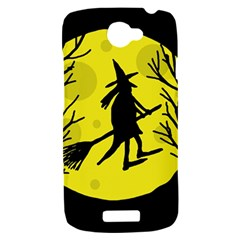 Halloween witch - yellow moon HTC One S Hardshell Case