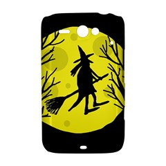 Halloween witch - yellow moon HTC ChaCha / HTC Status Hardshell Case