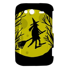 Halloween witch - yellow moon HTC Wildfire S A510e Hardshell Case