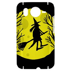 Halloween witch - yellow moon HTC Desire HD Hardshell Case