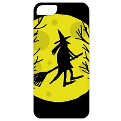 Halloween witch - yellow moon Apple iPhone 5 Classic Hardshell Case