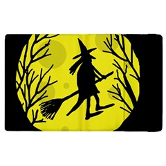 Halloween witch - yellow moon Apple iPad 2 Flip Case