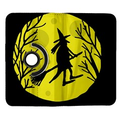 Halloween witch - yellow moon Samsung Galaxy Note II Flip 360 Case