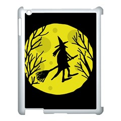 Halloween witch - yellow moon Apple iPad 3/4 Case (White)