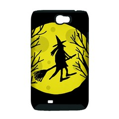 Halloween witch - yellow moon Samsung Galaxy Note 2 Hardshell Case (PC+Silicone)