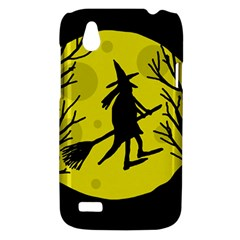 Halloween witch - yellow moon HTC Desire V (T328W) Hardshell Case