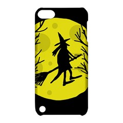 Halloween witch - yellow moon Apple iPod Touch 5 Hardshell Case with Stand