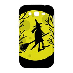 Halloween witch - yellow moon Samsung Galaxy Grand DUOS I9082 Hardshell Case