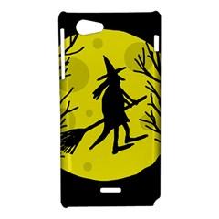 Halloween witch - yellow moon Sony Xperia J