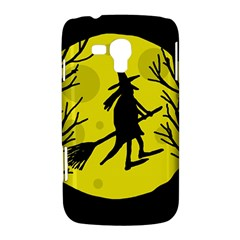 Halloween witch - yellow moon Samsung Galaxy Duos I8262 Hardshell Case