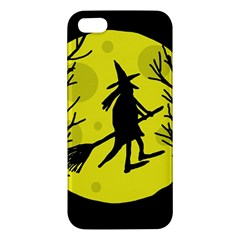 Halloween witch - yellow moon iPhone 5S/ SE Premium Hardshell Case