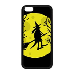 Halloween witch - yellow moon Apple iPhone 5C Seamless Case (Black)