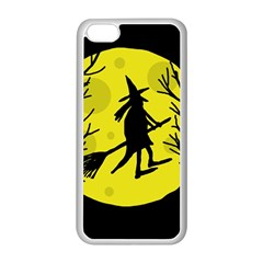 Halloween witch - yellow moon Apple iPhone 5C Seamless Case (White)