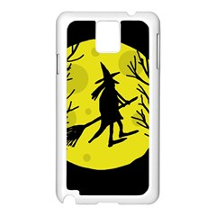 Halloween witch - yellow moon Samsung Galaxy Note 3 N9005 Case (White)