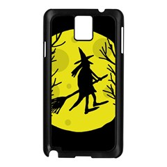 Halloween witch - yellow moon Samsung Galaxy Note 3 N9005 Case (Black)