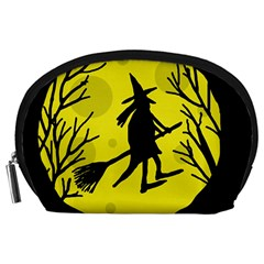 Halloween witch - yellow moon Accessory Pouches (Large)