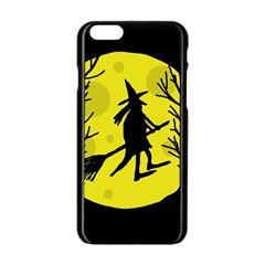 Halloween witch - yellow moon Apple iPhone 6/6S Black Enamel Case