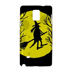 Halloween witch - yellow moon Samsung Galaxy Note 4 Hardshell Case