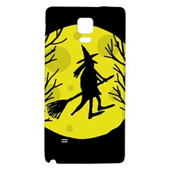 Halloween witch - yellow moon Galaxy Note 4 Back Case