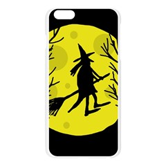 Halloween witch - yellow moon Apple Seamless iPhone 6 Plus/6S Plus Case (Transparent)