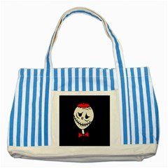 Halloween monster Striped Blue Tote Bag
