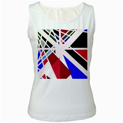 Decorative flag design Women s White Tank Top