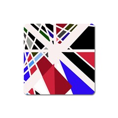 Decorative flag design Square Magnet