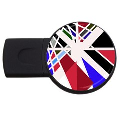 Decorative flag design USB Flash Drive Round (2 GB)