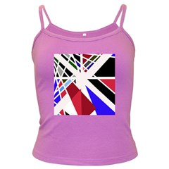 Decorative flag design Dark Spaghetti Tank