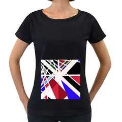 Decorative flag design Women s Loose-Fit T-Shirt (Black)