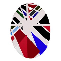 Decorative flag design Oval Ornament (Two Sides)