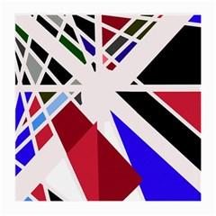 Decorative flag design Medium Glasses Cloth