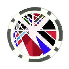Decorative flag design Poker Chip Card Guards