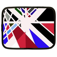 Decorative flag design Netbook Case (Large)