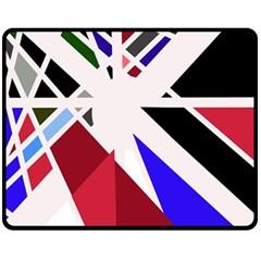 Decorative flag design Fleece Blanket (Medium)