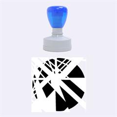 Decorative Flag Design Rubber Round Stamps (medium)