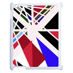Decorative flag design Apple iPad 2 Case (White)