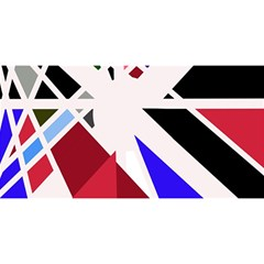 Decorative flag design YOU ARE INVITED 3D Greeting Card (8x4)