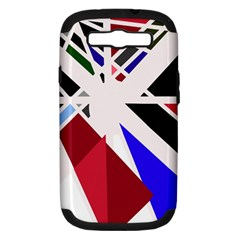 Decorative flag design Samsung Galaxy S III Hardshell Case (PC+Silicone)