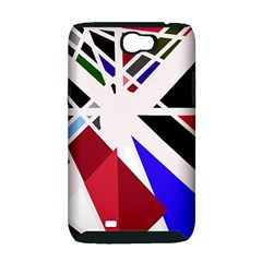 Decorative flag design Samsung Galaxy Note 2 Hardshell Case (PC+Silicone)