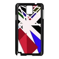 Decorative flag design Samsung Galaxy Note 3 N9005 Case (Black)